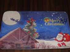NON SLIP CHRISTMAS DOORMAT 50CMX80CM GOOD QUALITY RETRO MEMORY FOAM VINTAGE